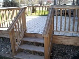 This is a larger look at the deck after being powered washed but before being stained & sealed.