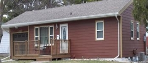 This house in West Ames had new siding & trim installed. We primed and painted all the new siding & trim.