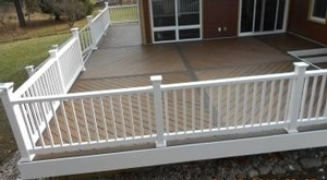 Side view of the custom deck.