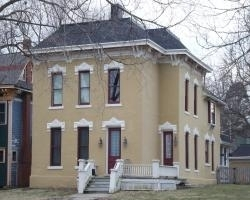 This is a Victorian house that we prepped and painted in Central Ames (3 color scheme).